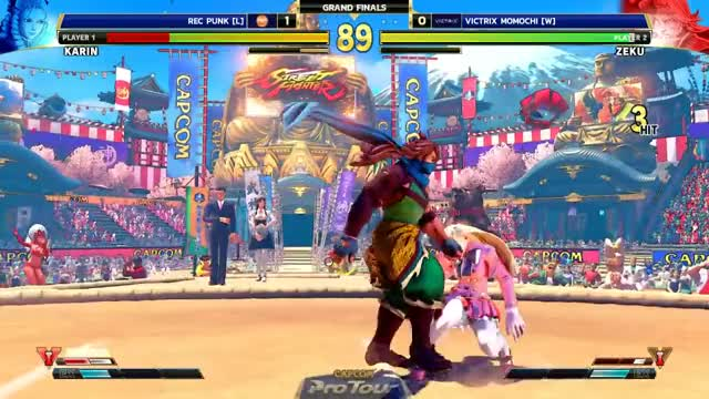 Watch REC Punk (Karin) vs VICTRIX Momochi (Zeku) Final Round 2019 - Grand Finals - CPT 2019 GIF by @veloc1raptor on Gfycat. Discover more Capcom Fighters, Gaming, champion, evo, evo japan, japan, one hit confirm, shimmy, throw bair, usa GIFs on Gfycat