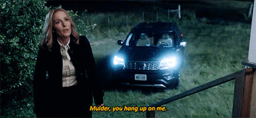 gillian anderson, xfiles my struggle scully mulder hang up on me GIFs