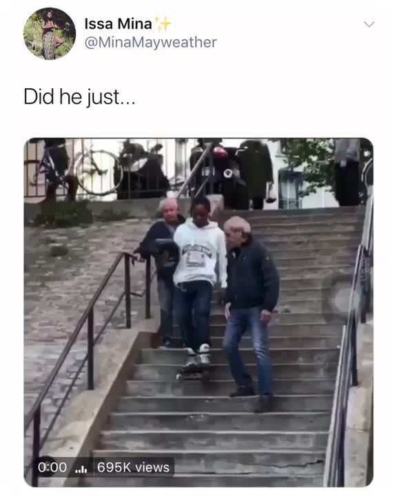 rollerblade, stairs, The way he rolls down the stairs GIFs