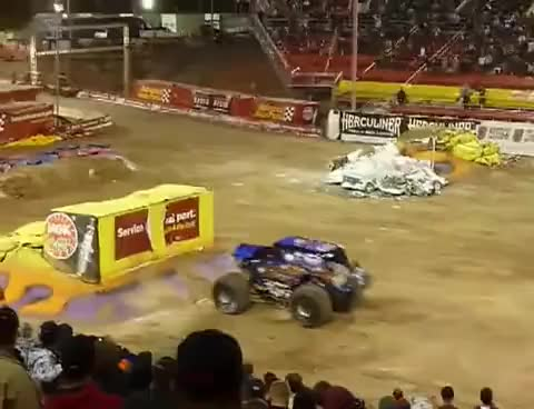 Watch and share Monster Truck GIFs and Back Flip GIFs on Gfycat