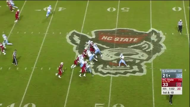 Watch Germaine Pratt tackle spin GIF by @hudso3 on Gfycat. Discover more CFB Game Tape, DeludedYinzer, Germaine Pratt, Germaine Pratt 2017, Germaine Pratt Highlights, Germaine Pratt NC State, Germaine Pratt Vs., Sports, football GIFs on Gfycat
