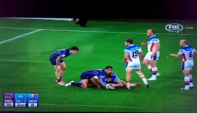 NRL RND3 - Alex McKinnon - Tackle gone wrong! GIFs