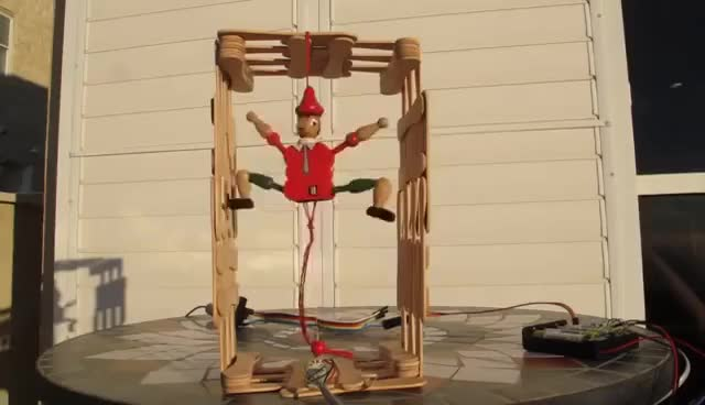 Watch and share World's Simplest Humanoid (Italian) Robot GIFs on Gfycat
