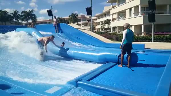 Watch and share Flowrider Fail GIFs on Gfycat