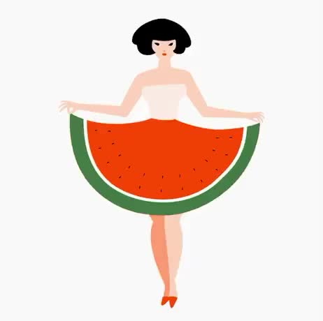Watch and share Watermelon GIFs and Dress GIFs by Reactions on Gfycat