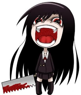 creepy anime girl GIF chibi GIFs