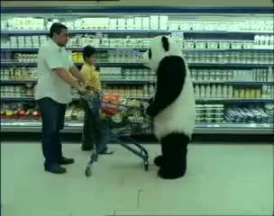 Watch and share Derruba Carrinho GIFs and Panda Mercado GIFs on Gfycat