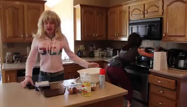 Watch COOKING w/ SAMANTHA + COLLEEN GIF on Gfycat. Discover more related GIFs on Gfycat