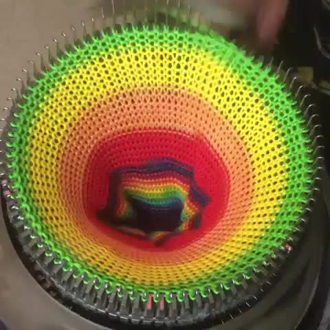 Watch Circular sock making machine 🧦🌈 GIF by Jackson3OH3 (@jackson3oh3) on Gfycat. Discover more related GIFs on Gfycat