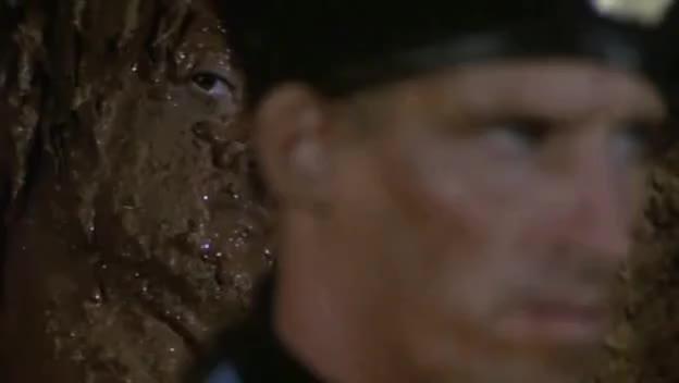 rambo, sylvester stallone, Rambo II - Mud Death GIFs