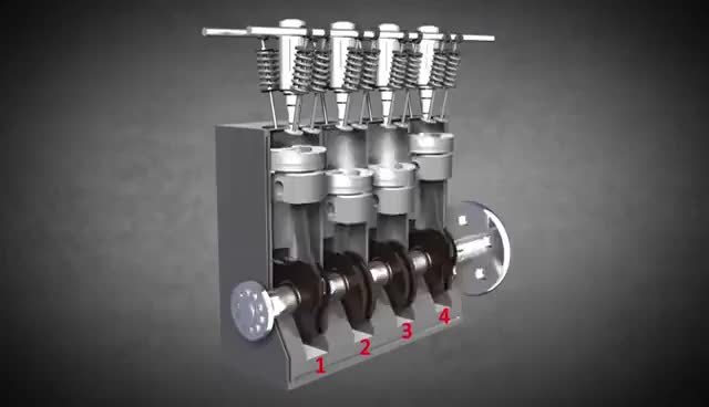 Watch How Diesel Engines Work! (Animation) GIF on Gfycat. Discover more related GIFs on Gfycat