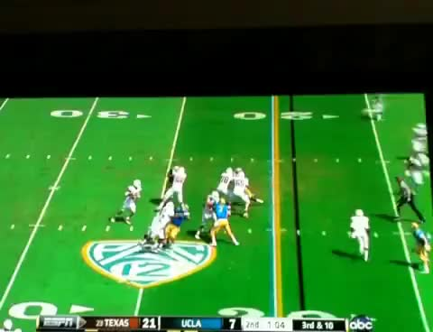 Watch and share Marquise Goodwin HUGE Block Vs. UCLA GIFs on Gfycat