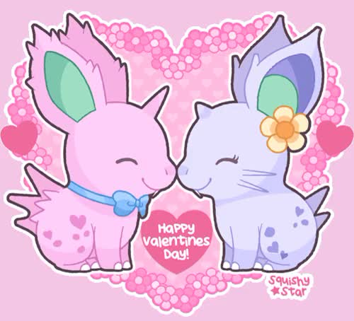 Watch Squishy Valentines Day Nidorans!Art  Melissa Caruso (Squishy GIF on Gfycat. Discover more chibi, cute, nidoran, pokemon, squish, squishy, valentine, valentinesday GIFs on Gfycat