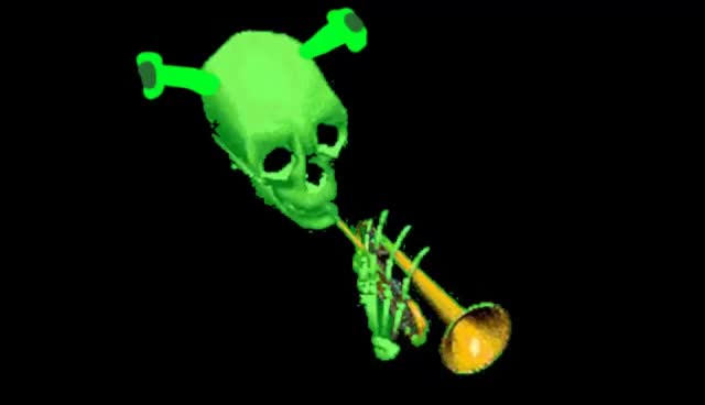 Watch and share Mr Skeltal Feat. Shrek - Doot Star GIFs on Gfycat