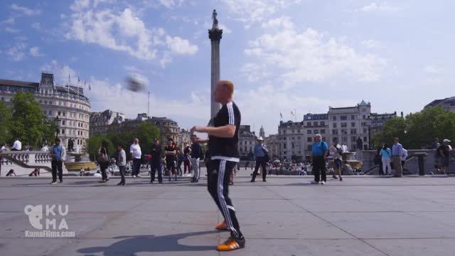 Watch Freestyle Football Tricks in London feat. Guinness World Record Holder Dan Magness GIF by Slim Jones (@slimjones123) on Gfycat. Discover more football, freestyle football, kuma films GIFs on Gfycat