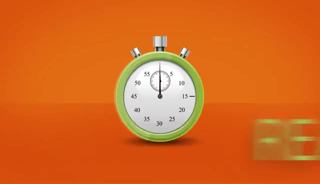 Watch and share 60 Second Countdown Clock - Stop Watch Zoom - 3D Animation - Timer GIFs on Gfycat