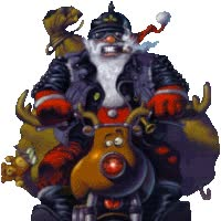 Watch and share Sexy Christmas Santa Claus Photo: Motorcycle Santa Claus Santa_MotorCycle.gif animated stickers on Gfycat