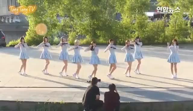 Watch and share DIA(다이아) 'Mr.Potter'(미스터포터) Busking Stage (한강 버스킹, 채연, 희현) GIFs on Gfycat