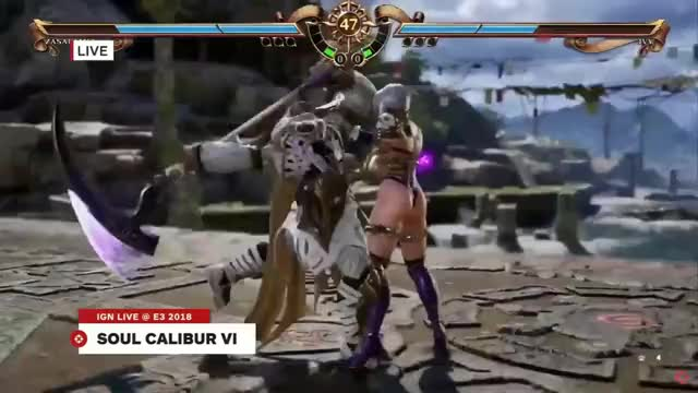 [NEW E3 2018]Soulcalibur VI - Zasalamel Vs Ivy - IGN Preshow