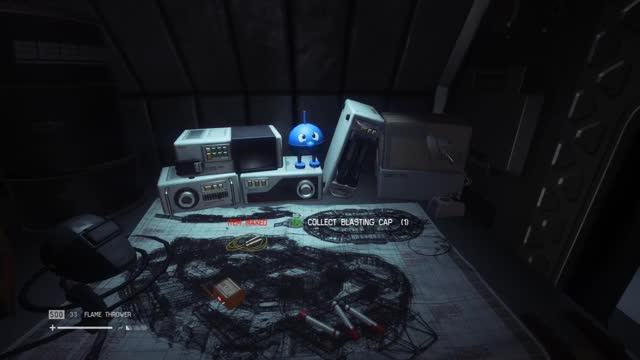 Watch and share Alien Isolation - Blue Thingy GIFs by CherryDashZero on Gfycat