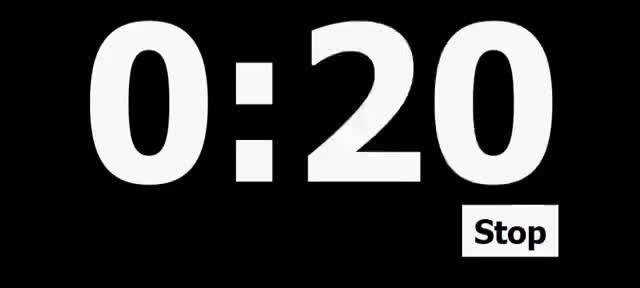 Watch and share 20 Second Countdown Timer GIFs on Gfycat