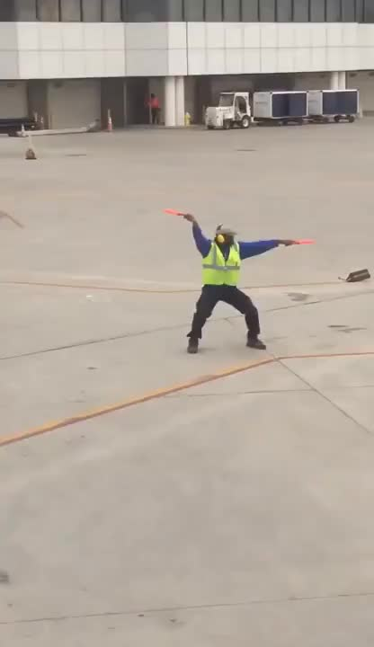 Watch and share The Tarmac Dancer Strikes Again! - 979480 GIFs on Gfycat