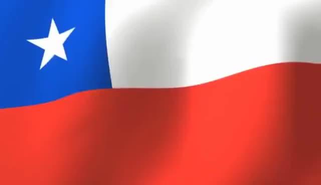 Watch Flag of Chile - La Estrella Solitaria - Bandera de Chile GIF on Gfycat. Discover more related GIFs on Gfycat