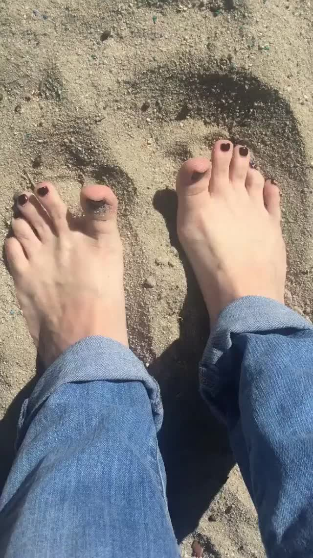 Sand feels lovely between the toes