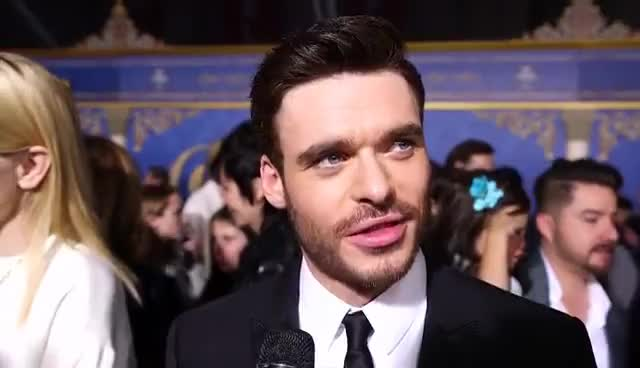 red carpet, richard madden, Cinderella's Richard Madden Admits Learning to Dance Was
