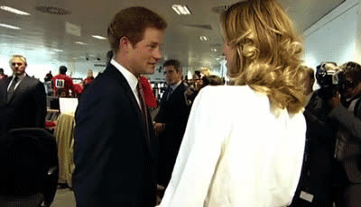 And when it's time to party, we also know who the royal prince will be looking up to. GIFs