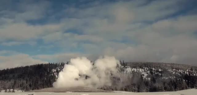 Watch and share Old Faithful Erupting During The Day, Yellowstone National Park (reddit) GIFs on Gfycat
