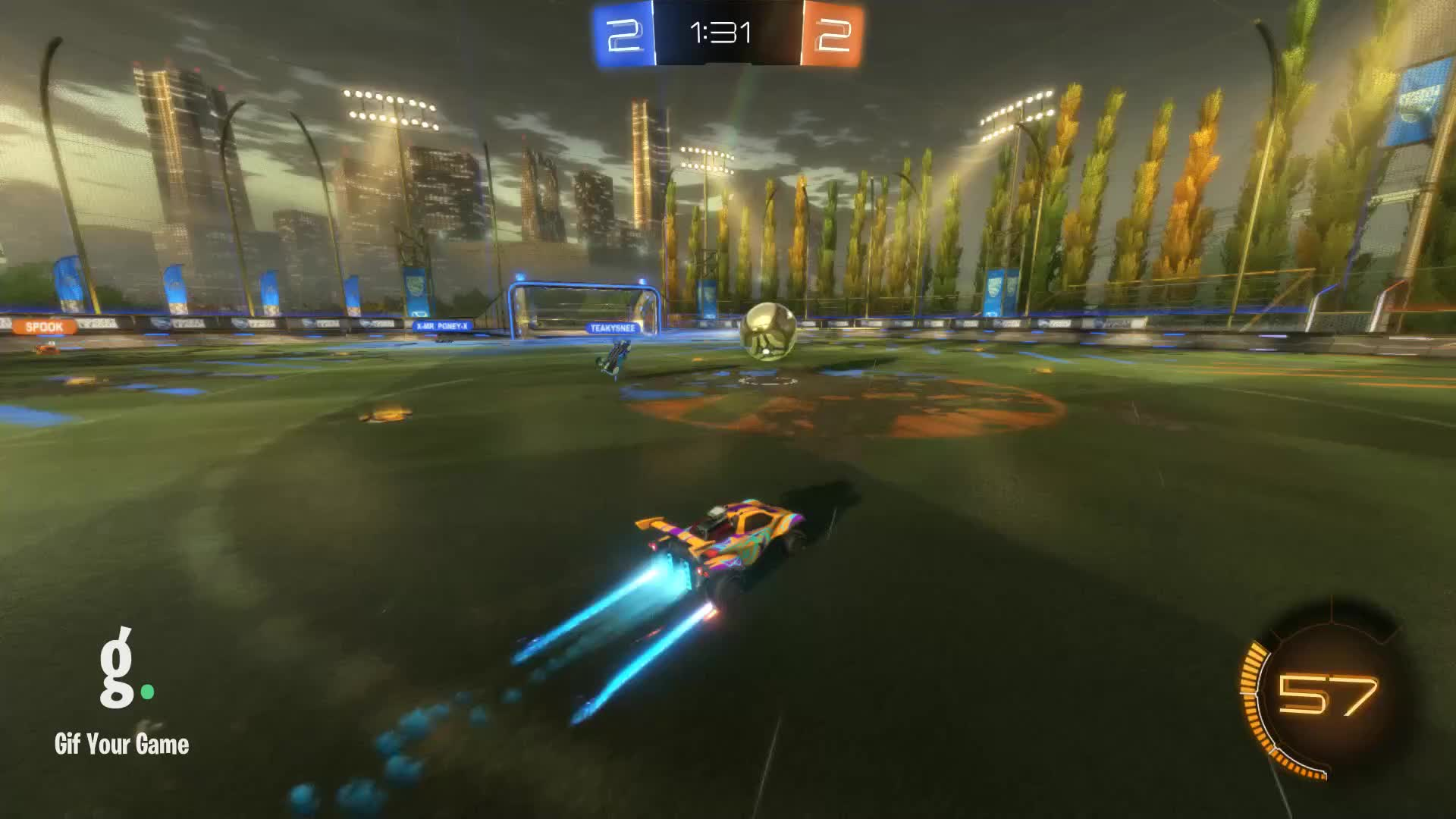 Gif Your Game, GifYourGame, Goal, Rocket League, RocketLeague, 🎬 Stitched 2 clips 9/14/2019 GIFs