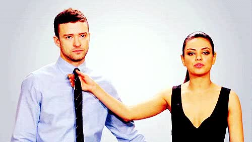 Watch and share Justin Timberlake GIFs and Mila Kunis GIFs on Gfycat