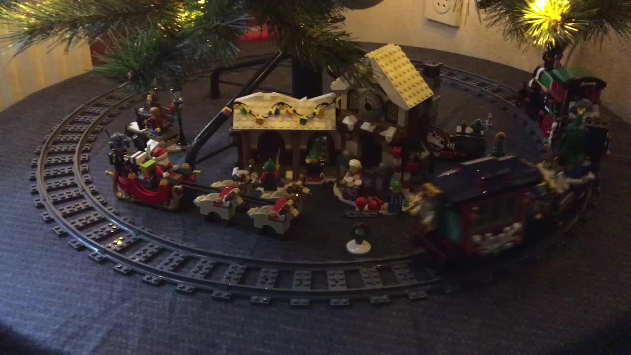 holiday, train, winter, Lego train and workshop GIFs