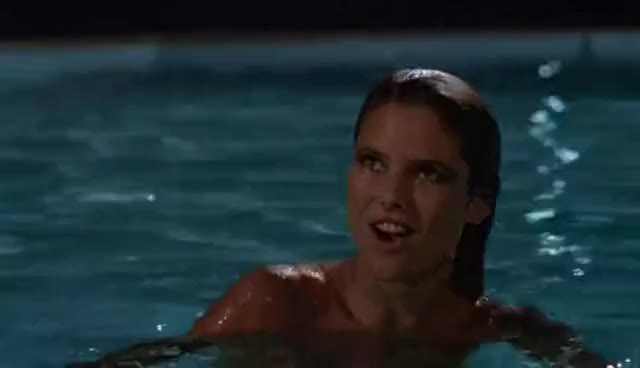 Christie brinkley gifs search find make share gfycat gifs - Swimming pool girl christmas vacation ...