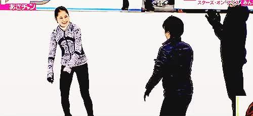 "Watch and share Shoma-uno: """"Shoma & Satoko Practicing The Koi Dance || 2017 Stars On Ice: Japan (x) "" "" GIFs on Gfycat"