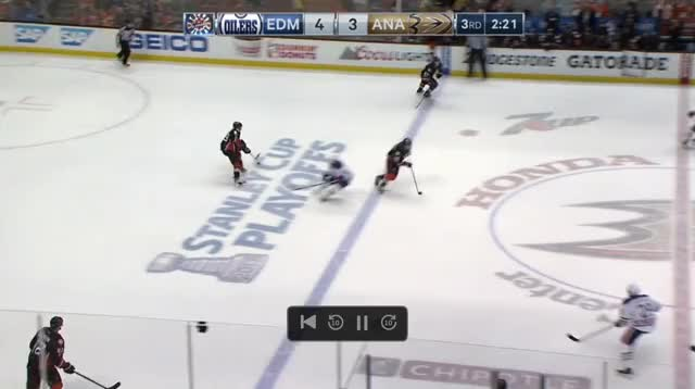 Watch and share Sekera Russell Game 1 Anaheim Scoring Chance Against GIFs by cultofhockey on Gfycat
