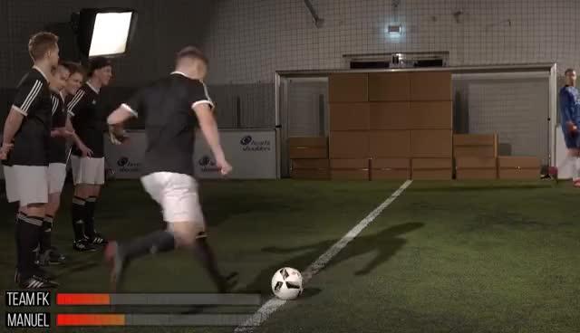 freekickerz vs. Manuel Neuer - Ultimate Football Challenges GIFs