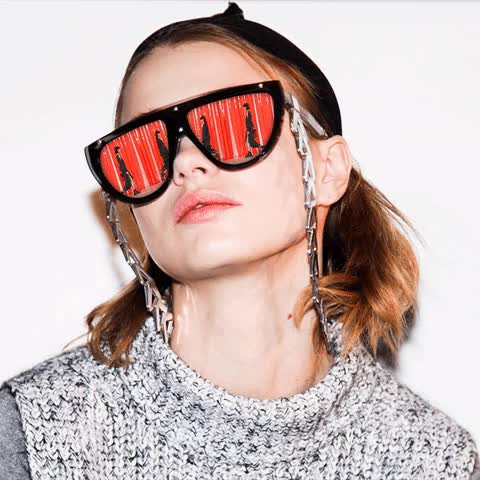 Watch this deal with it GIF by The GIF Smith (@sannahparker) on Gfycat. Discover more couture, deal with it, fashion, high fashion, model, new york fashion week, nyfw, sunglasses GIFs on Gfycat
