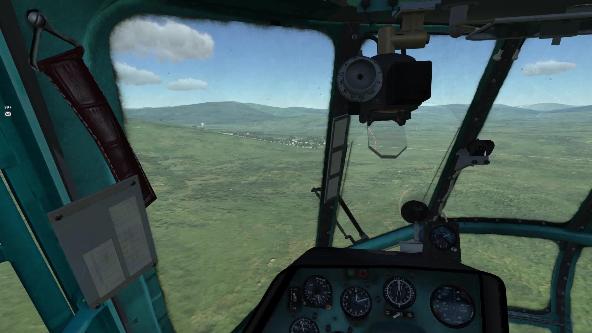 hoggit, Su-27 and Mi-8 formation flight GIFs