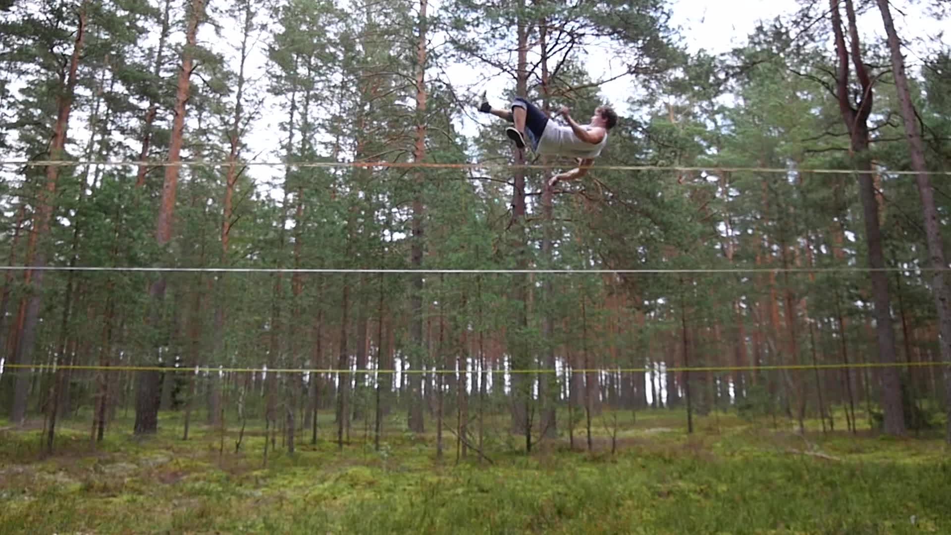 slackline, tandem, tricks, Forest Beasts | Slackline GIFs