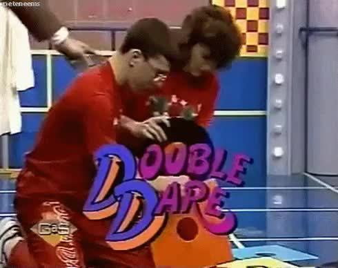 80s, double dare, game shows GIF | Find, Make & Share Gfycat