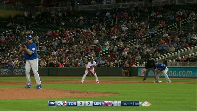 Watch and share Biagini's Pick Off In The 11th Against The Twins GIFs by the92jays on Gfycat
