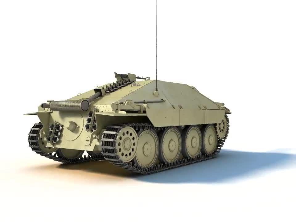 TankPorn, Warthunder, German Jagdpanzer Hetzer 3D cutaway GIFs