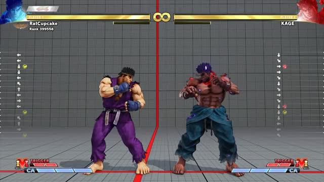 Watch and share SFV Ryu Cross-up GIFs by pcgemma on Gfycat