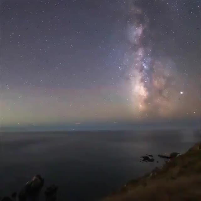 Watch and share By Keeping The Milky Way Fixed In Its Place This Timelapse Reminds Us We're All On A Rock That's Spinning Through Space GIFs by Funkie on Gfycat