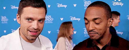 Watch and share Anthony Mackie GIFs and Sebastian Stan GIFs on Gfycat