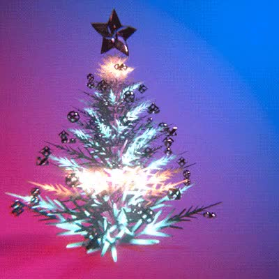 Watch and share Merry Christmas Flashing Tree ANIMATED GIF - SpeakGif GIFs on Gfycat