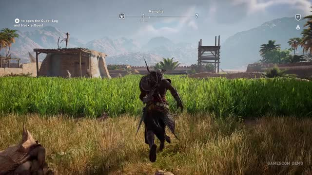 Assassin S Creed Origins 4k Gameplay Xbox One X Gif By Hybr1d