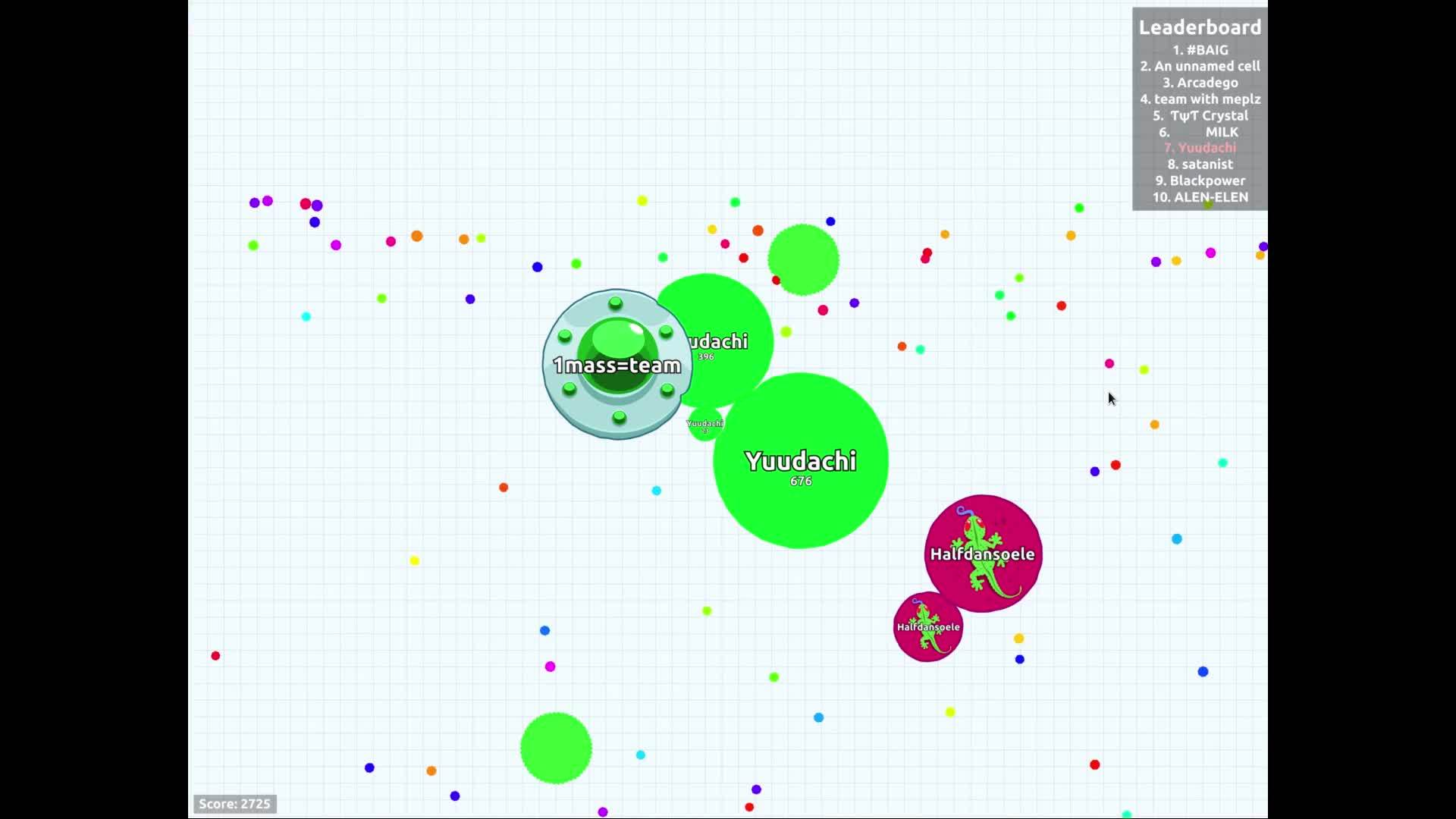agario, My first vanish split... for a gain of 79 mass :/ GIFs